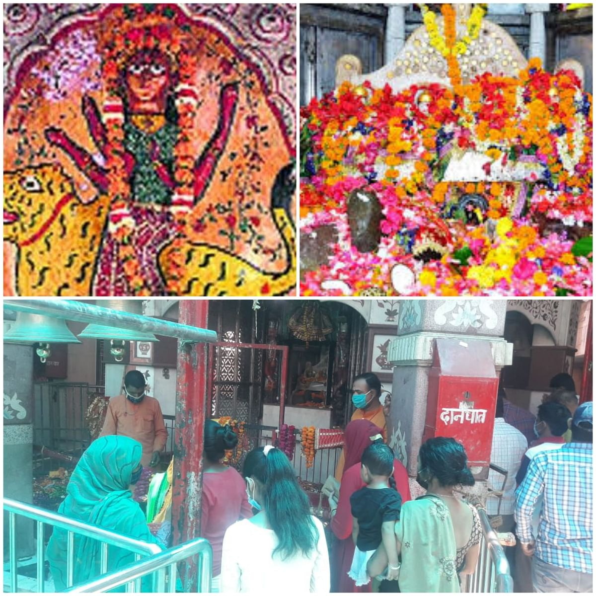 चैत्र नवरात्र : घरों में मां ब्रह्माचारिणी की पूजा कर भक्तों  ने मांगा आशीर्वाद, मंदिरों की रौनक रही फीकी