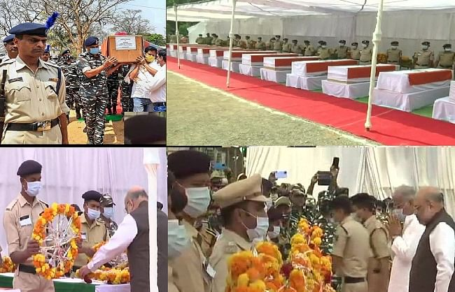 chhattisgarh---home-minister-amit-shah-paid-tribute-to-the-martyred-soldiers-after-reaching-jagdalpur