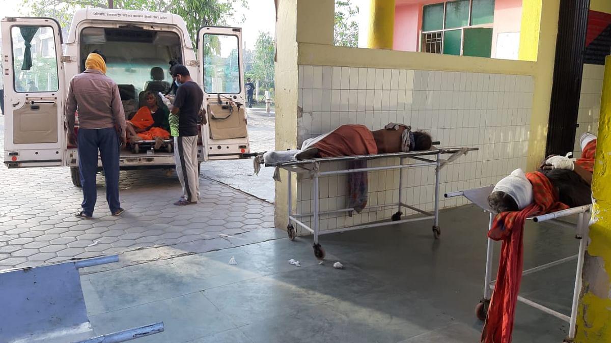 अज्ञात वाहन ने मारी महिलाओं से भरी आपे में टक्कर, 2 की मौत,आधा दर्जन घायल
