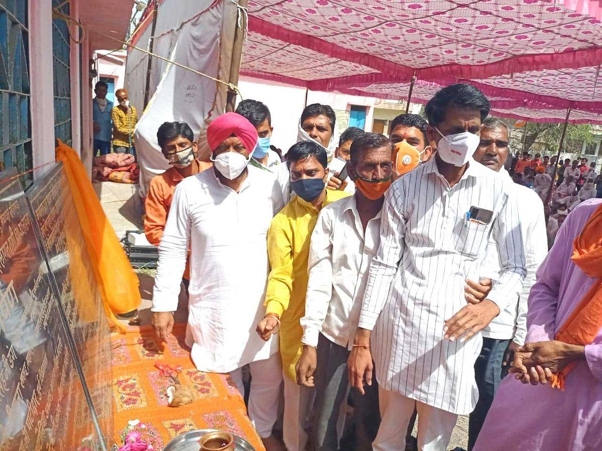 मंत्री डंग ने किया मंदसौर जिले में नल-जल योजना और खेल मैदानों का भूमिपूजन