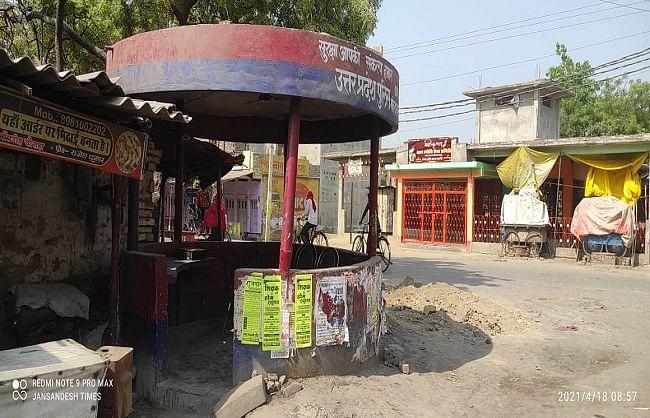 बलिया शहर में वीकेंड लॉकडाउन सफल, गांवों-कस्बों में भी सड़कें वीरान
