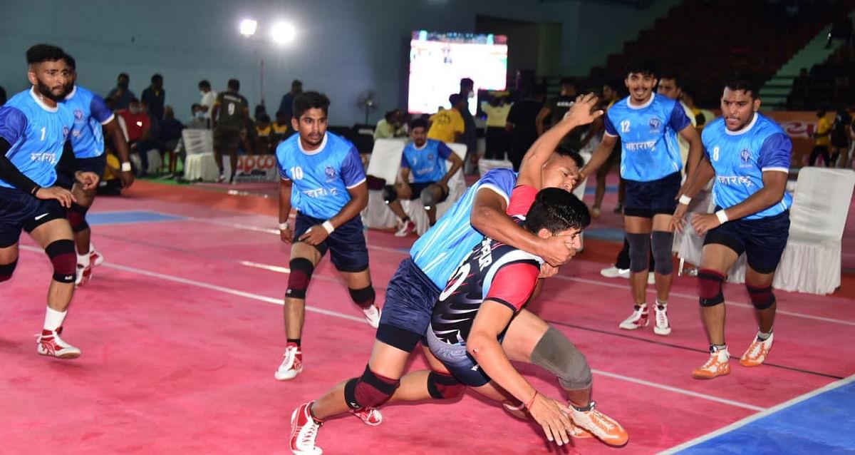 राष्ट्रीय कबड्डी चैम्पियनशिप पुरुष में हुए रोमांचक मुकाबले