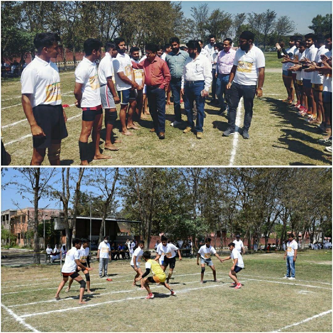 आजादी का अमृत महोत्सव समारोह के तहत कबड्डी मैच का आयोजन