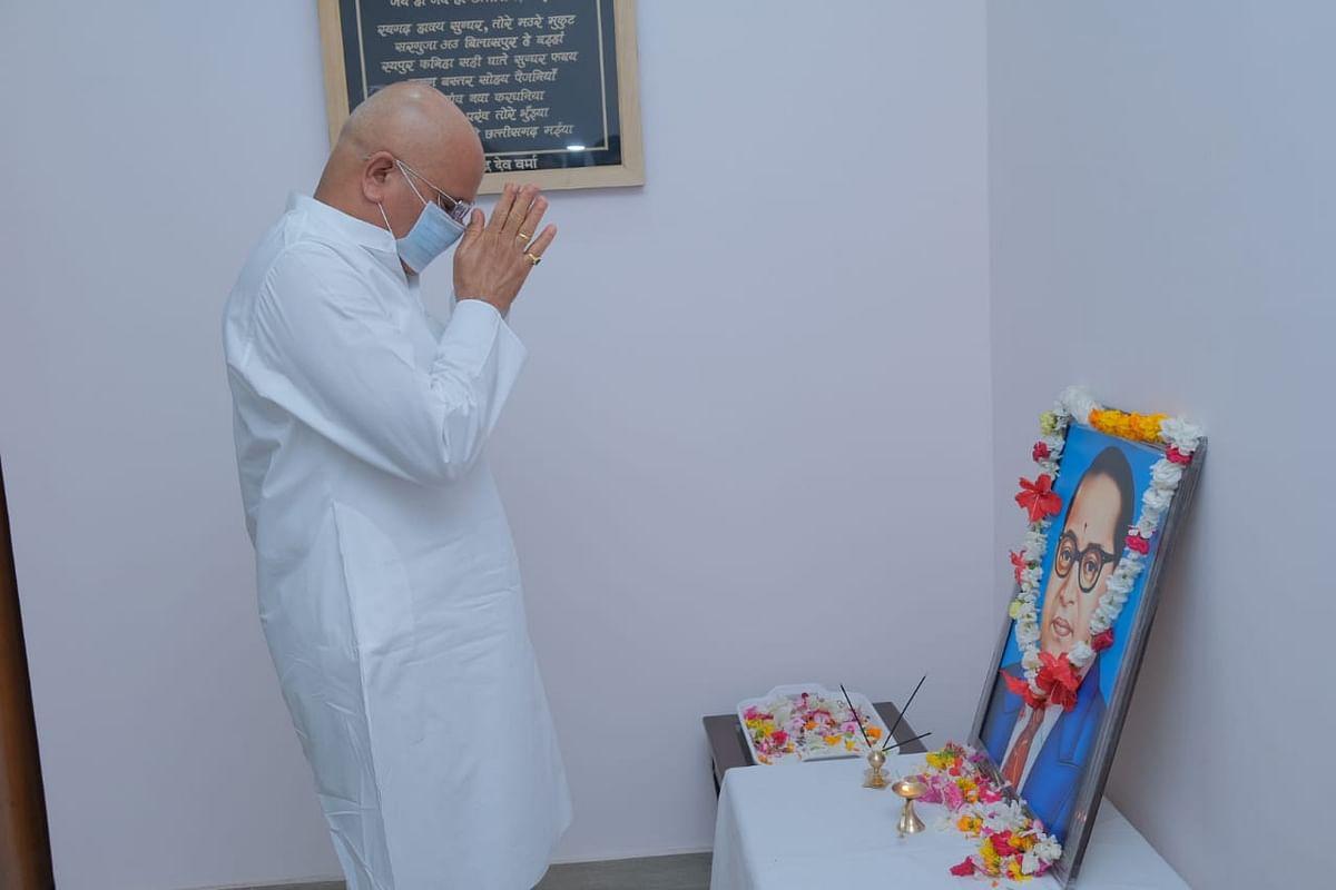 रायपुर : मुख्यमंत्री भूपेश ने भारतरत्न डाॅ. भीमराव अम्बेडकर को उनकी जयंती पर दी श्रद्धांजलि