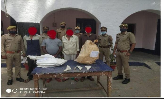 कन्नौज :  अवैध शस्त्र फैक्ट्री का भी भंडाफोड़, पुलिस ने चार कुख्यात अपराधी पकड़े