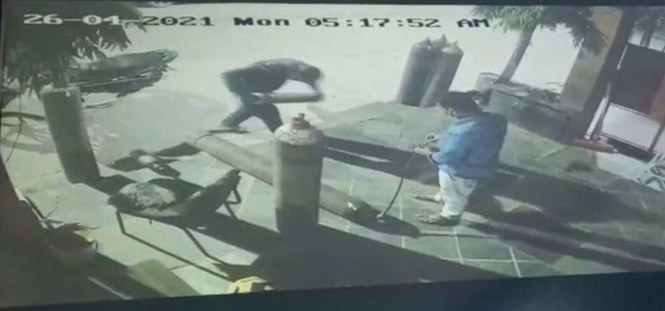 उज्जैन में ऑक्सीजन सिलेण्डर से चोरी कर ली गैस
