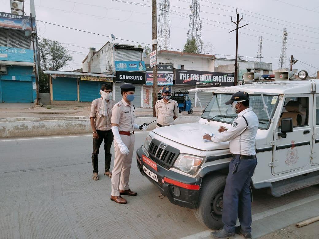 कोतवाली पुलिस एवं जिला यातायात की रात तक चली कार्यवाही,  119 लोगों के चालान कटे