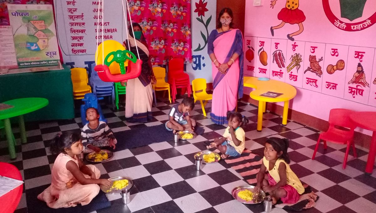 children-happy-after-opening-anganwadi-center-after-one-year