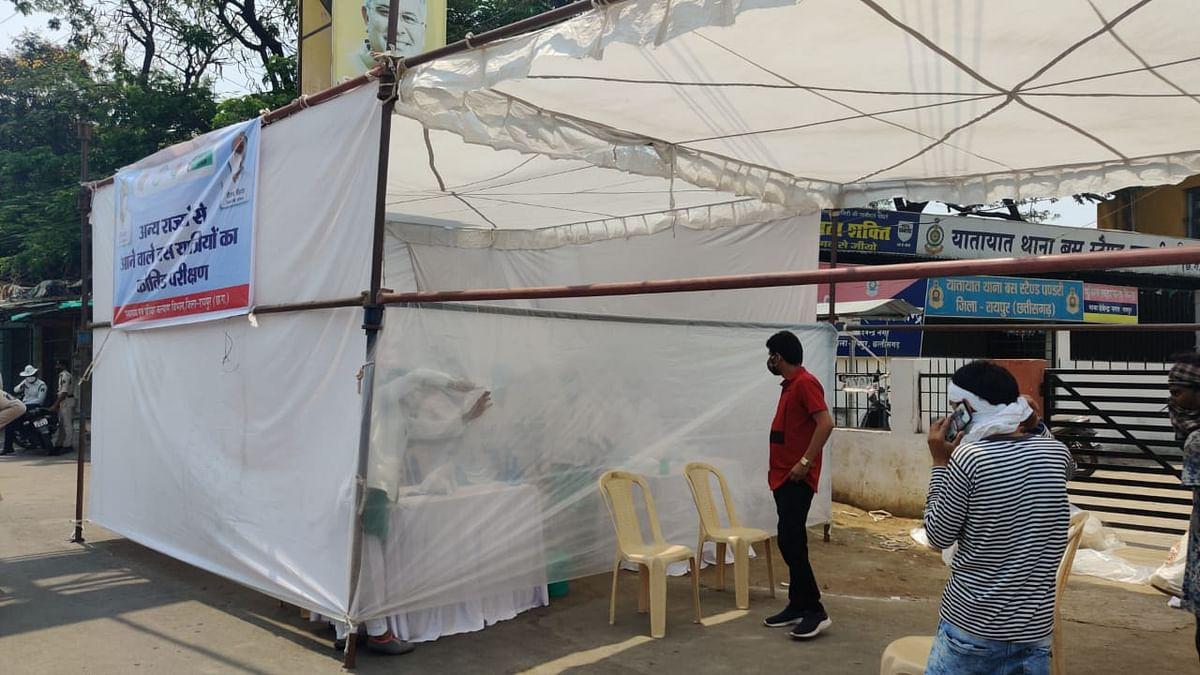 रायपुर- पंडरी बस स्टैंड में कोविड टेस्ट प्रारंभ