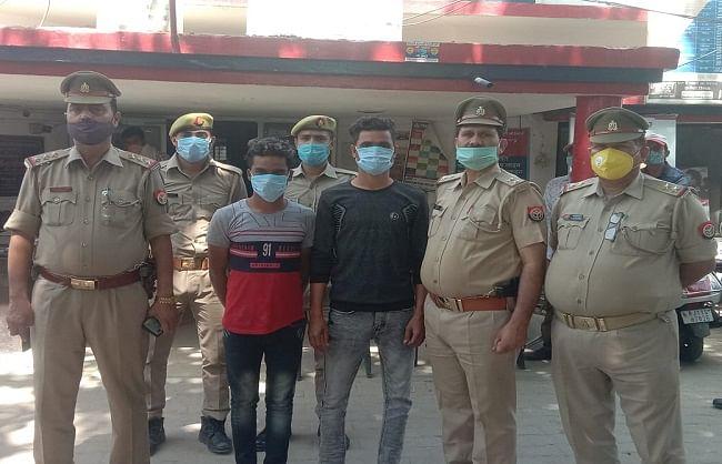 फिरोजाबाद : अवैध असलहा बनाते समय दो गिरफ्तार