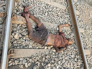 korba-traumatic-death-of-a-person-in-the-grip-of-a-train