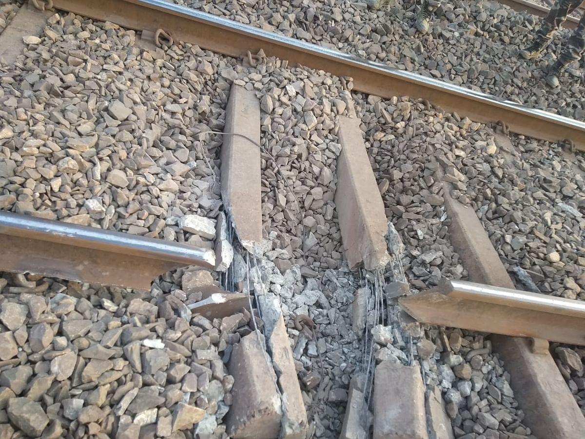 झारखंडः भारत बंद के दौरान नक्सलियों ने रेलवे ट्रैक उड़ाया