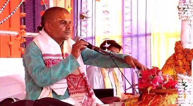 अखंड भागवत महापुराण पाठ और महायज्ञ के अंतिम दिन उमड़ा भक्तों का जनसैलाब