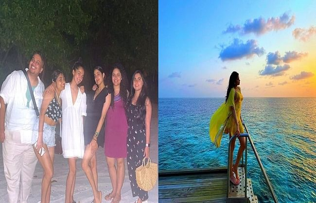 39dhadak39-girl-janhvi-kapoor-was-seen-chilling-with-friends-in-maldives