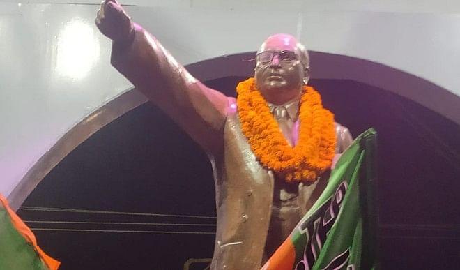 गोरखपुर की बड़ी खबरें: भाजपा ने  प्रतिमा पर माला पहनाकर मनायी अम्बेडकर जयंती