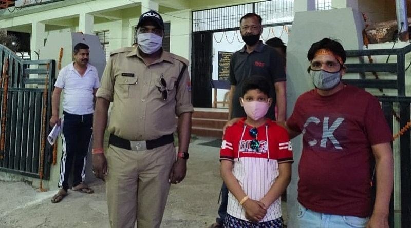 police-reunited-a-child-who-was-separated-at-the-maa-purnagiri-fair