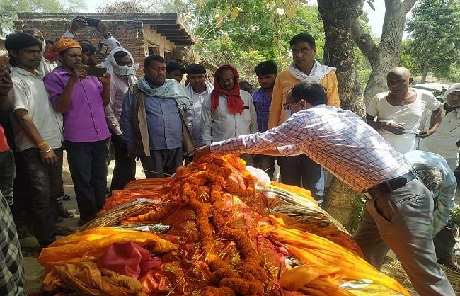 जौनपुर : आजाद हिंद फौज का सिपाही पंच तत्व में विलीन