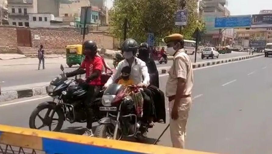 कर्फ्यू का पहला दिन : चप्पे चप्पे पर पुलिस की चेकिंग, बाजारों में पसरा सन्नाटा