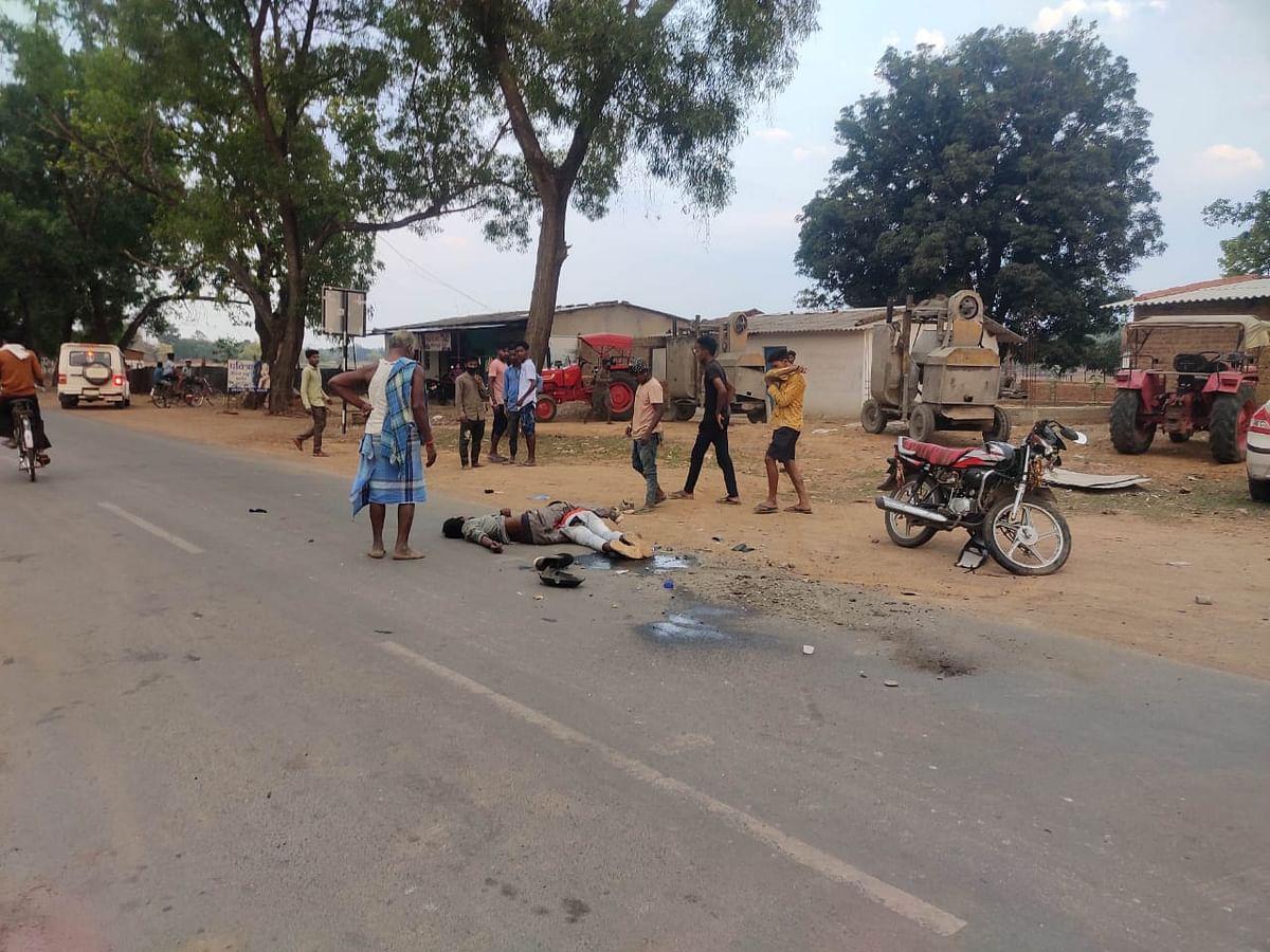 कोंडागांव : ट्रेक्टर से टकराकर मोटरसाइकिल सवार दो की मौत