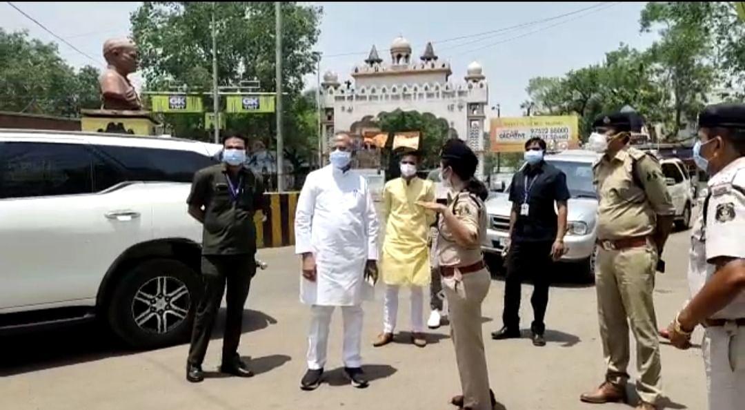 दुर्ग : जिले में गृह मंत्री ने लिया लॉकडाउन का जायजा