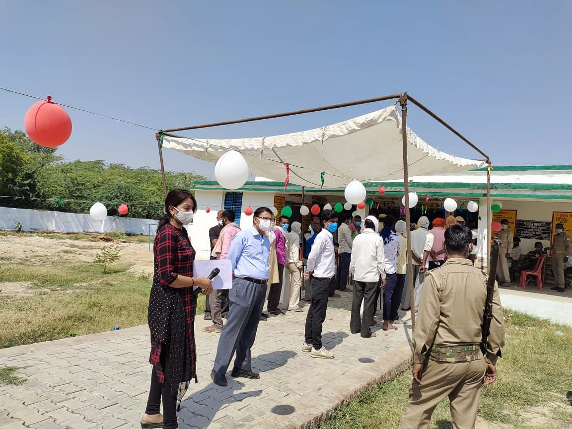 panchayat-elections-34-percent-polling-in-kanpur-countryside-till-1-pm