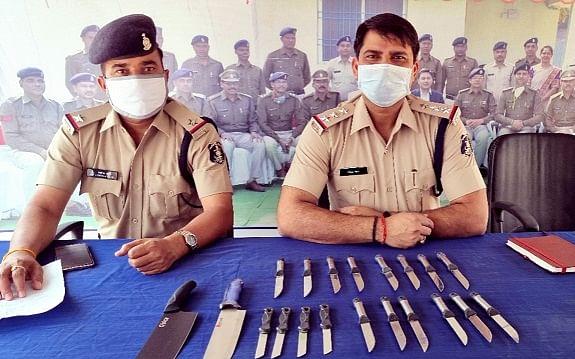 कोरबा : बालको पुलिस ने ऑनलाइन चाकू खरीदने वालों से की पूछताछ