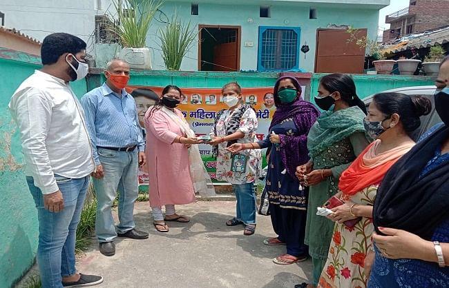 प्रेमनगर में 200 परिवारों को बांटी सुरक्षा किट