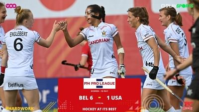 महिला हॉकी : बेल्जियम ने प्रो लीग में अमेरिका को 6-1 से हराया