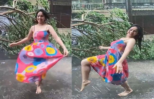 तूफान में गिरे पेड़ों के बीच बारिश में डांस करते दीपिका सिंह गोयल जमकर हो रहीं  ट्रोल