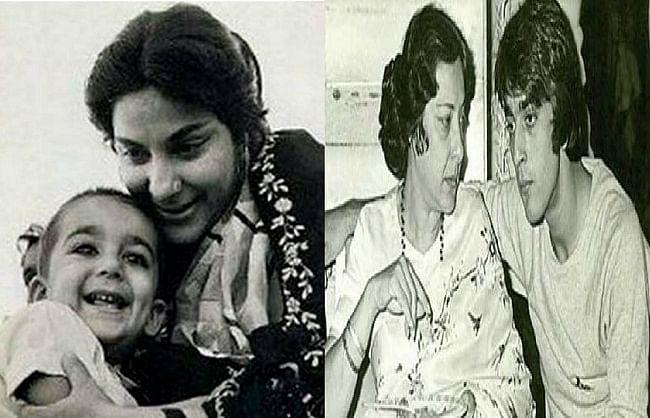 अभिनेत्री नरगिस दत्त की 40वीं पुण्यतिथि पर बेटे संजय दत्त ने शेयर की थ्रोबैक  तस्वीर