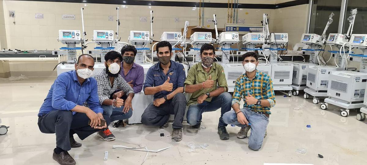 केंद्रीय मंत्री की दखल के बाद दिल्ली से आए इंजीनियर ने ठीक किए वेंटिलेटर