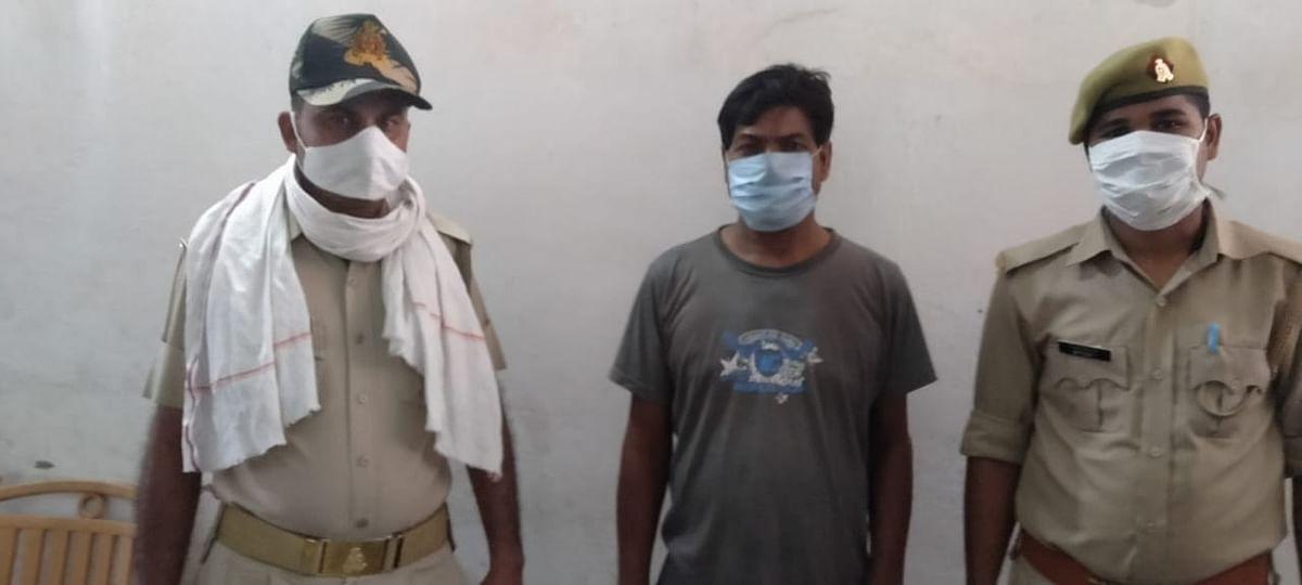 फतेहपुरः तीन माह से फरार हत्यारोपी गिरफ्तार, भेजा जेल