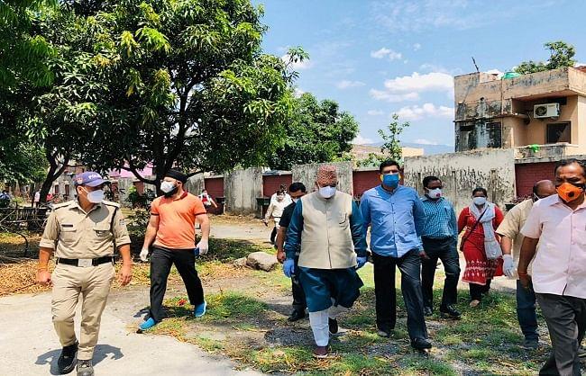प्रभारी मंत्री ने गेस्ट हाउस का निरीक्षण कर कोविड सेंटर की संभावनाएं तलाशी