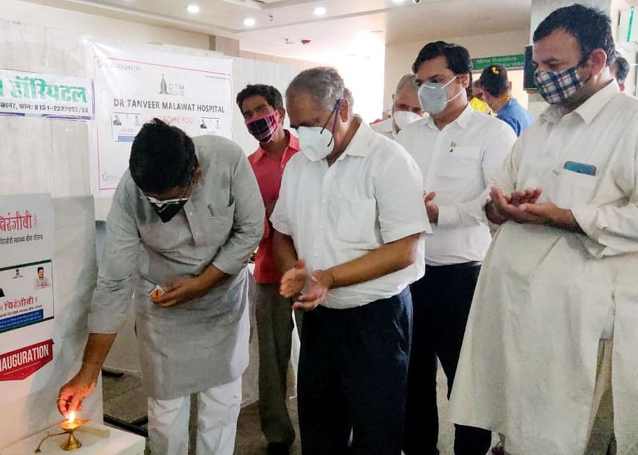 उच्च शिक्षामंत्री भाटी ने कोरोना मरीजों की पूछी कुशलक्षेम, स्वास्थ्य सेवाओं में कमी नहीं आने की बात कही