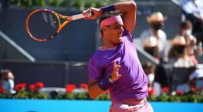 टेनिस : नडाल मैड्रिड ओपन के क्वार्टर फाइनल में, मेदवेदेव बाहर