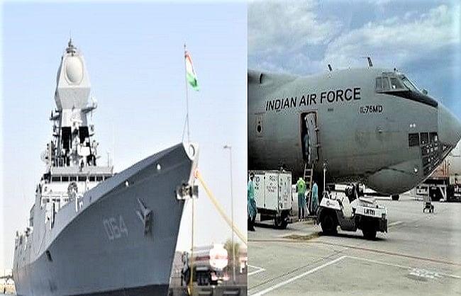 ऑक्सीजन संकट : वायु योद्धाओं और नौसैनिकों ने तेज किया 'कोविड वार'