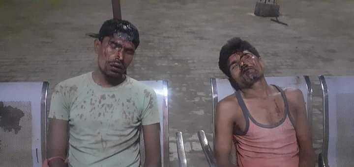 बलरामपुर : चुनावी रंजिश में जमकर चले पत्थर, नौ घायल