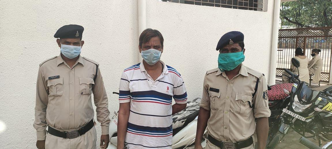 भिलाईनगर : बिहार भागने की फिराक में शराब तस्कर गिरफ्तार, 18 दिन से पुलिस को दे रहा था चकमा