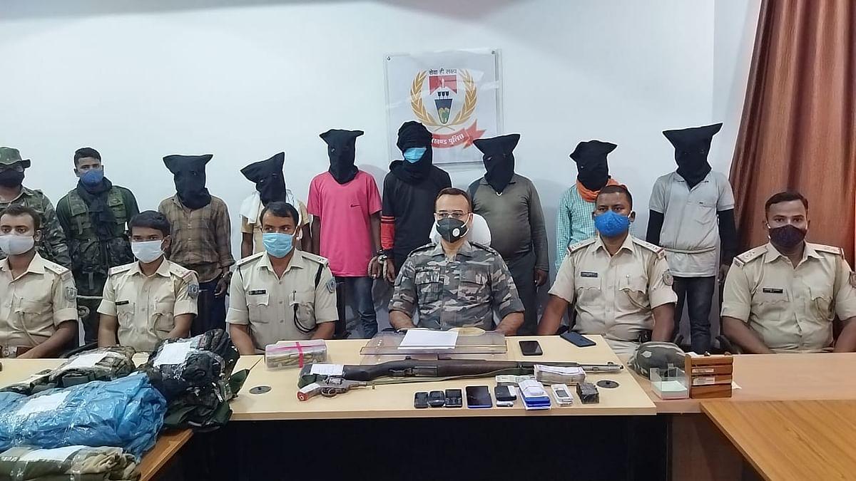 उग्रवादी संगठन टीएसपीसी के सात उग्रवादी गिरफ्तार