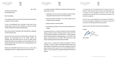 राहुल ने मोदी को लिखी चिट्ठी, कोविड और वैक्सीनेशन योजना की आलोचना
