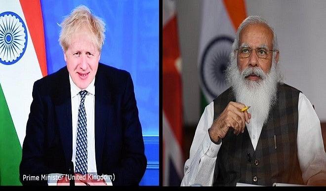 मोदी ने ब्रिटेन के प्रधानमंत्री के साथ शिखर बैठक की, एक अरब पौंड के व्यापार और निवेश की घोषणा