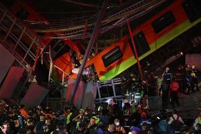 भूमिगत रेल पुल ढहने से मेक्सिको सिटी में 23 लोगों की मौत