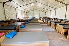बीएचयू के अस्थाई अस्पताल में 250 बेड का आईसीयू वार्ड बन कर तैयार
