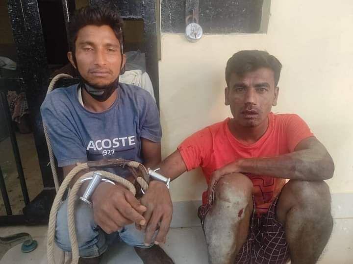 झपटमारी के आरोप में दो गिरफ्तार