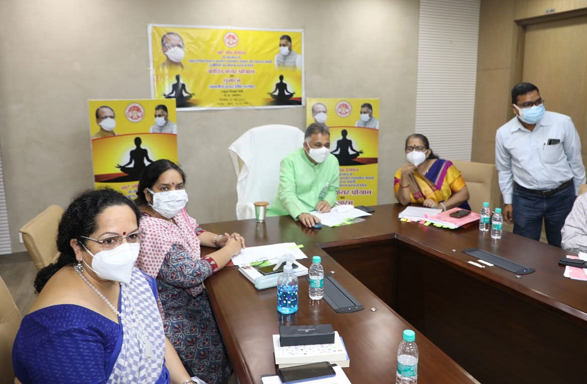 yoga-and-pranayama-are-important-to-keep-life-safe---minister-of-state-parmar
