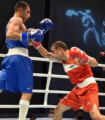एशियाई मुक्केबाजी : पंघल के बाद थापा भी फाइनल में स्प्लिट डिशिजन में हारे (लीड-1)