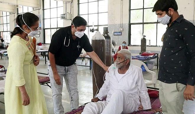 ग्रेटर नोएडा में कोरोना मरीजों के लिए राहत, ऑक्सीजन संयंत्र वाला कोविड-19 अस्पताल खुला