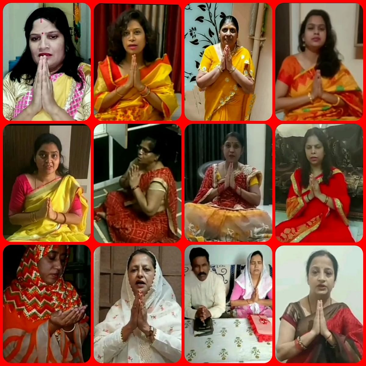 शिवपुरी:  कोरोना महामारी को खत्म करने के लिए जेसीआई महिलाओं ने की सामूहिक प्रार्थना