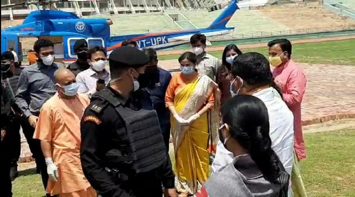 मुलासैफई पहुंचे मुख्यमंत्री योगी आदित्यनाथ, कोरोना महामारी की तैयारियों का ले रहे जायजा