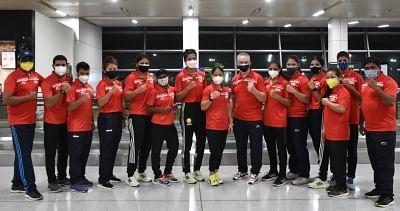 एशियाई चैंपियनशिप के लिए भारतीय मुक्केबाजी टीम दुबई पहुंची